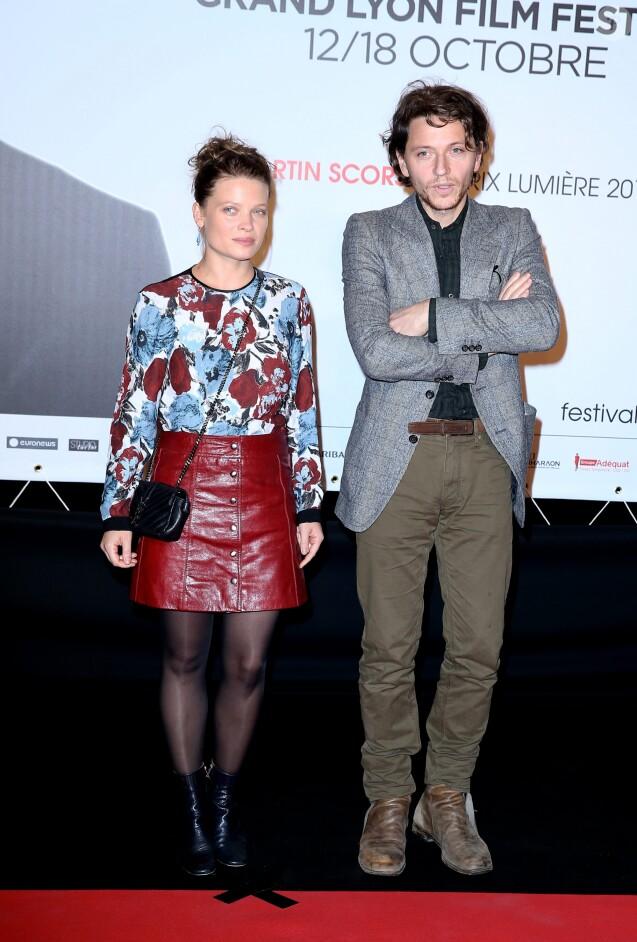 Le chanteur Raphael (Raphaël Haroche) et sa compagne Mélanie Thierry - Soirée d'ouverture de la 7éme édition du Festival Lumière 2015 à la Halle Tony-Garnier à Lyon le 12 octobre 2015.