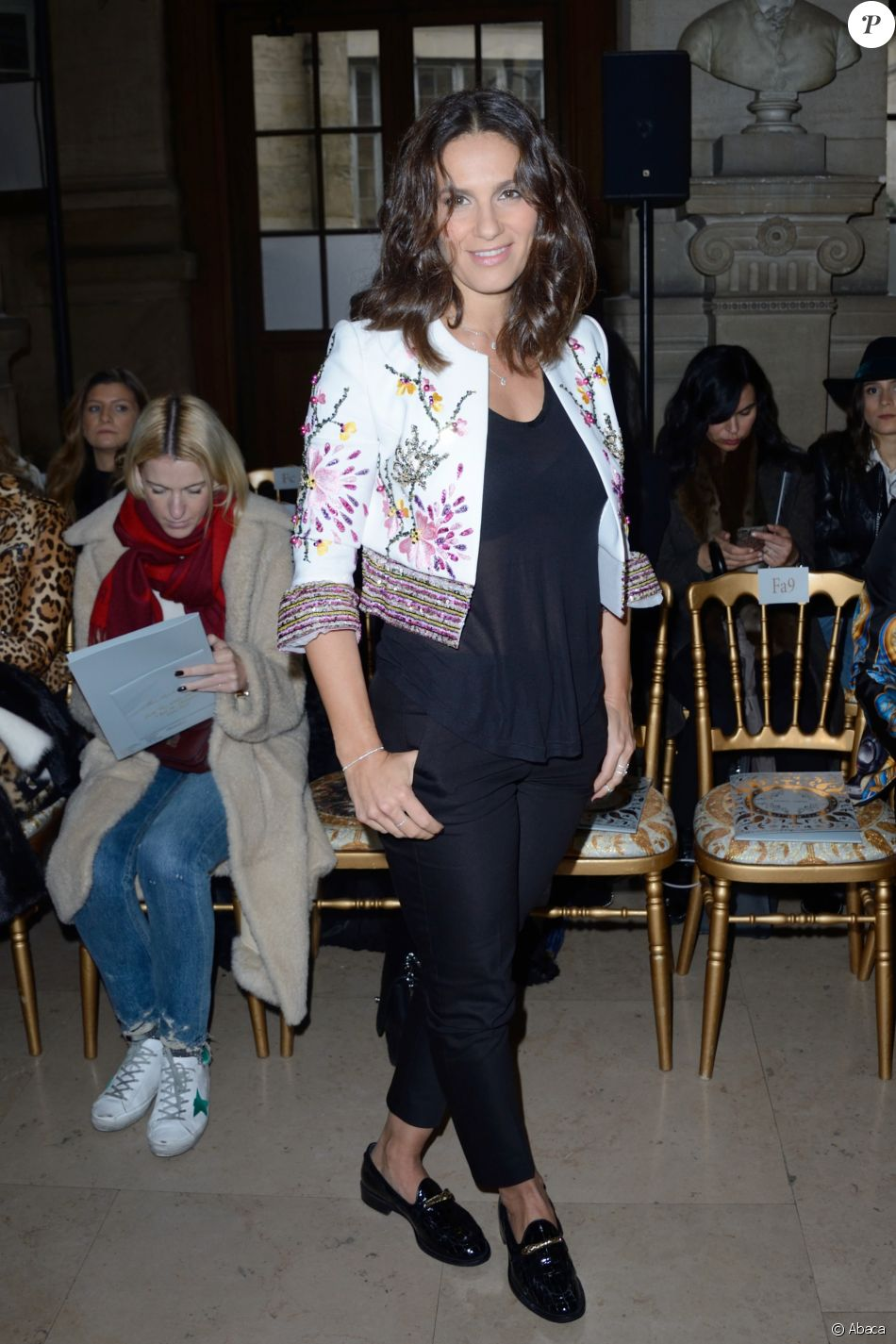 Elisa Tovati - Défilé Georges Hobeika, collection Haute Couture printemps-été 2018-2019 à Paris, le 22 janvier 2018.