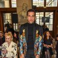 Dani Alves - Défilé Georges Hobeika, collection Haute Couture printemps-été 2018-2019 à Paris, le 22 janvier 2018.