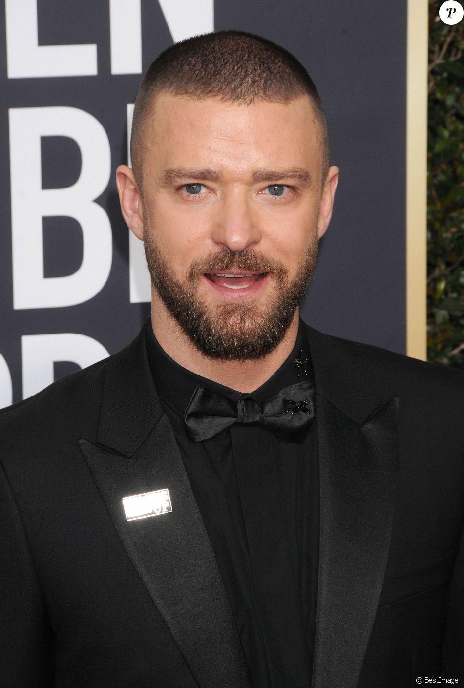 Justin Timberlake sur le tapis rouge de la 75ème cérémonie des Golden Globe Awards au Beverly Hilton à Los Angeles, le 7 janvier 2018.