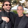 "FREDERIC BEIGBEDER ET THIERRY ARDISSON - PLATEAU DU ""GRAND JOURNAL"" DE CANAL + AU 60EME FESTIVAL INTERNATIONAL DU FILM A CANNES 19/05/2007 - Cannes"