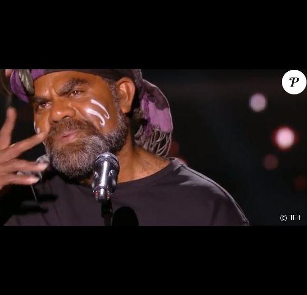 """Gulann lors de la première soirée des auditions à l'aveugle dans """"The Voice 7"""" (TF1) samedi 27 janvier 2018."""