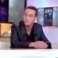 Jean-Baptiste Guégan, sosie vocal de Johnny Hallyday sur le plateau de C à vous, le 30 janvier 2018.