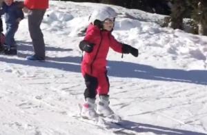 Gabriella de Monaco : Premières leçons de ski, la princesse reine des neiges !