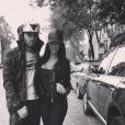 Jésé Rodriguez et sa compagne actuelle Aurah Ruiz dans les rues de Paris. Photo publiée sur Instagram en 2016.