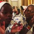 Estere et Stella fête déjà Noël, le 17 novembre 2017.