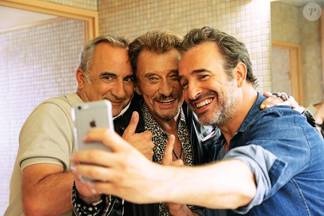 Antoine Duléry, Jean Dujardin, Johnny Hallyday dans le film Chacun sa vie.
