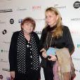 Agnès Varda et sa fille Rosalie Varda - 25ème édition des Trophées du Film Français 2018 au Palais Brongniart à Paris, le 6 février 2018. © Coadic Guirec/Bestimage