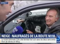 Yves Lecoq coincé toute la nuit dans sa voiture à cause de la neige !