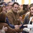 """La reine Letizia d'Espagne assiste à la remise des prix de la """"Fundación Princesa de Girona"""" à Mérida le 7 février 2018."""