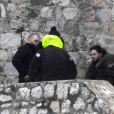 Kit Harrington sur le tournage de la saison 8 de Game of Thrones à Dubrovnik en Croatie, le 7 février 2018.