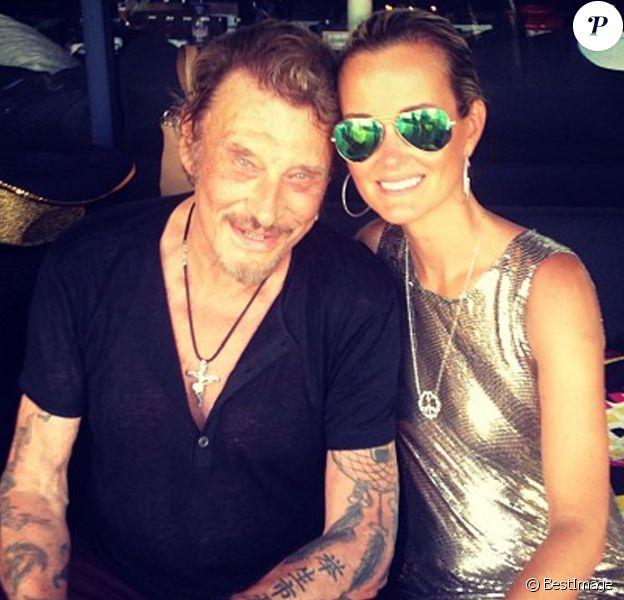 Laeticia et Johnny Hallyday ont fete l'anniversaire de leurs filles Jade et Joy (9 et 5 ans) dans leur villa à Saint-Barthélemy en 2013.