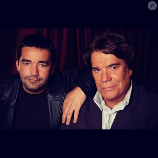 Stéphane Tapie et son père Bernard Tapie.