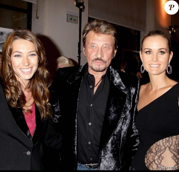 Laura Smet avec Johnny et Laeticia Hallyday à Paris en 2008