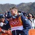 Gus Kenworthy lors de l'épreuve de slopestyle à Pyeongchang, le 18 février 2018