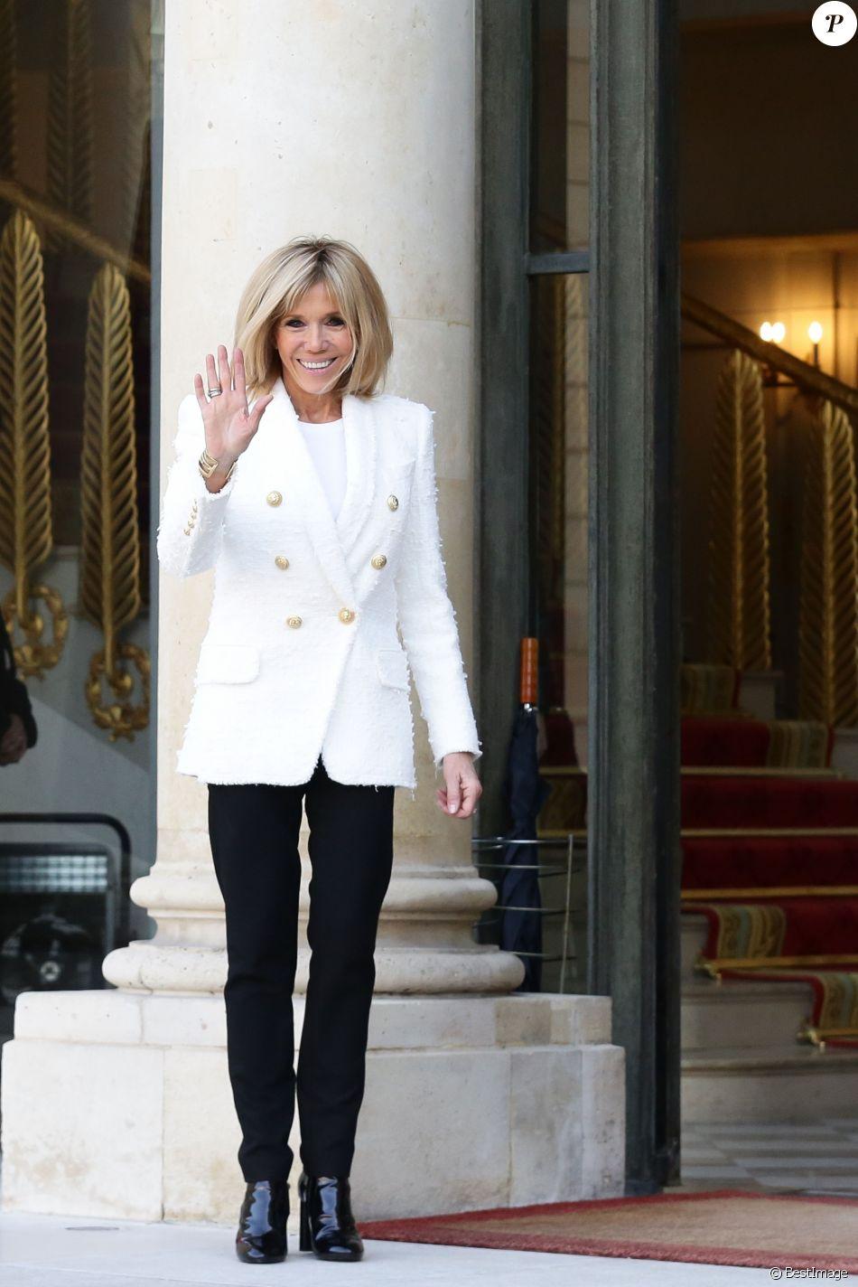 Macron Rayonnante Blanc En L'élyséePour À La Brigitte qSpLVjUzMG
