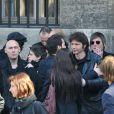 Bertrand Cantat à la sortie de l'église