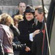 -M- et Philippe Lavil  à la sortie de l'église