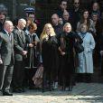 Chloé Mons à la sortie de l'église