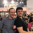 """Pierre-Emmanuel (saison 12) et Pierre (saison 7) - De nombreux candidats de """"L'amour est dans le pré"""" se sont retrouvés au Salont de l'agriculture à Paris. Février 2018."""