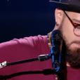 Joss Bari dans The Voice 7 sur TF1 le 3 mars 2018.