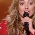 "Yasmina Ammari dans ""The Voice 7"" sur TF1, le 3 mars 2018."
