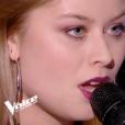 """Isadora dans """"The Voice 7"""" le 3 mars 2018 sur TF1."""