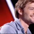 """Matthias Piaux dans """"The Voice 7"""" sur TF1 le 3 mars 2018."""