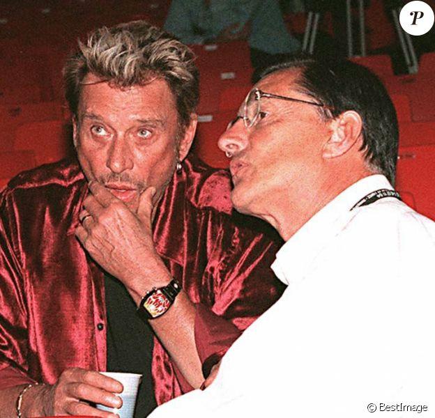 Johnny Hallyday et Jean-Claude Camus en 1998.