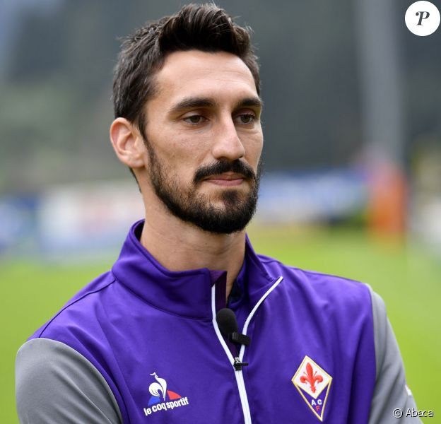 Le capitaine de l'AC Fiorentina Davide Astori, en 2016.