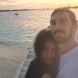 Davide Astori et sa compagne Francesca Fioretti, en décembre 2017. C'est la dernière photo publiée du couple.