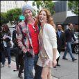 """Kellan Lutz et Rachelle LeFevre, au magasin Kitson de Los Angeles, pour la sortie du DVD de """"Twilight"""", le samedi 21 mars 2009."""