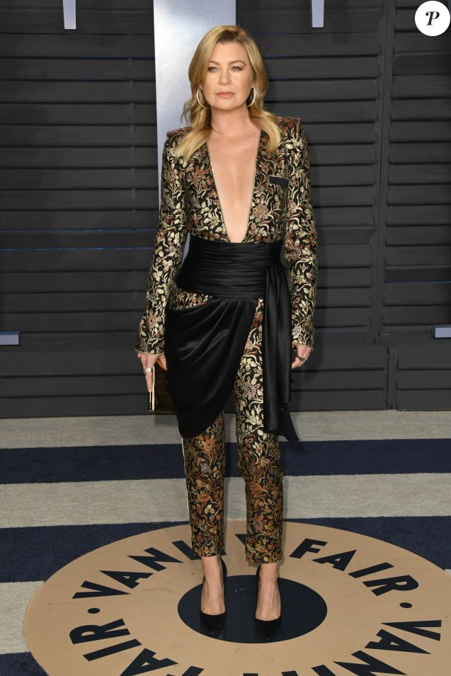 """Ellen Pompeo - People à la soirée Vanity Fair Oscar Party au """"Wallis Annenberg Center for the Performing Arts"""" à Beverly Hills le 4 mars 2018."""