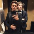 Tom Daley et Dustin Lance Black, au Beverly Hilton Hotel de Los Angeles, le 12 février 2018
