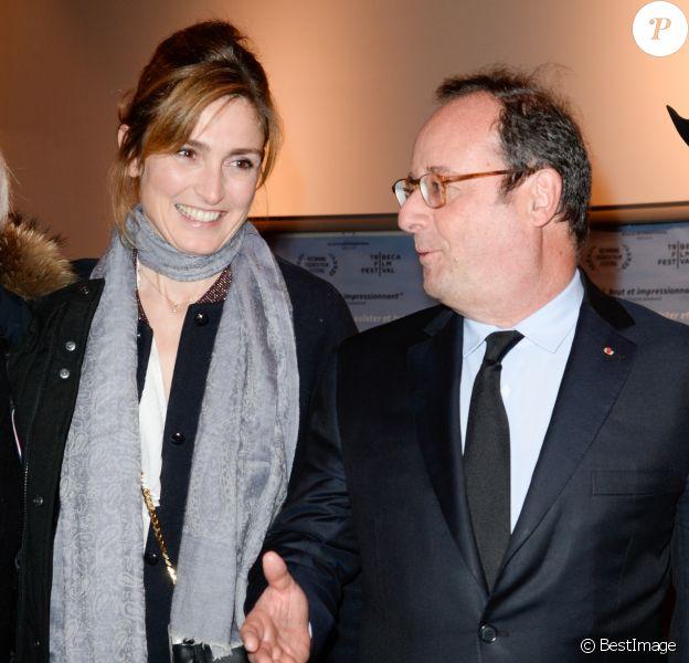 """François Hollande et Julie Gayet - Première du film documentaire """"The Ride"""" au MK2 Bibliothèque à Paris. Le 26 janvier 2018 © Coadic Guirec / Bestimage"""