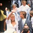 Mariage de David Hallyday et Estelle Lefébure en 1989.