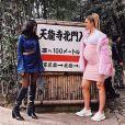 Kourtney et Khloé Kardashian au Japon. Mars 2018.