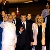 Brigitte et Emmanuel Macron en Inde : Leur arrivée main dans la main