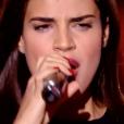 """Lorrah Cortesi dans """"The Voice 7"""" sur TF1, le 10 mars 2018."""