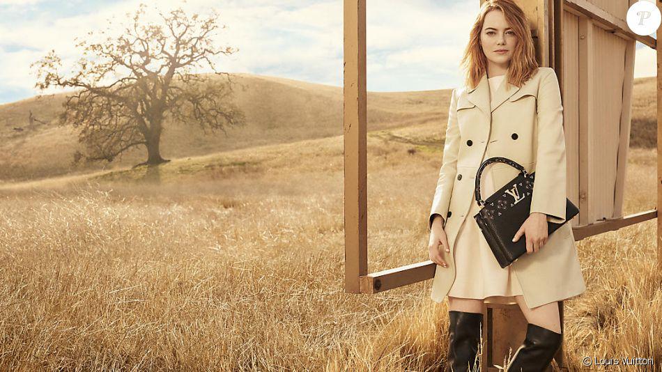 """Emma Stone, nouveau visage de la campagne """"The Spirit of Travel"""" de Louis Vuitton. Photo par Craig McDean."""