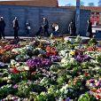 La reine Margrethe a décidé d'installer les fleurs et couronnes des obsèques du prince Henrik sur le monument aux morts à Copenhague le 22 février 2018. 22/02/2018 - Copenhague