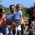 Alessandra Ambrosio, Jamie Mazur et leurs enfants Noah et Anja arrivent à la fête chili cook-off à Los Angeles le 3 septembre 2016.