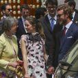 La princesse Alexandra de Hanovre et son frère Pierre Casiraghi au mariage religieux du prince Christian de Hanovre et d'Alessandra de Osma le 16 mars 2018 à Lima au Pérou.
