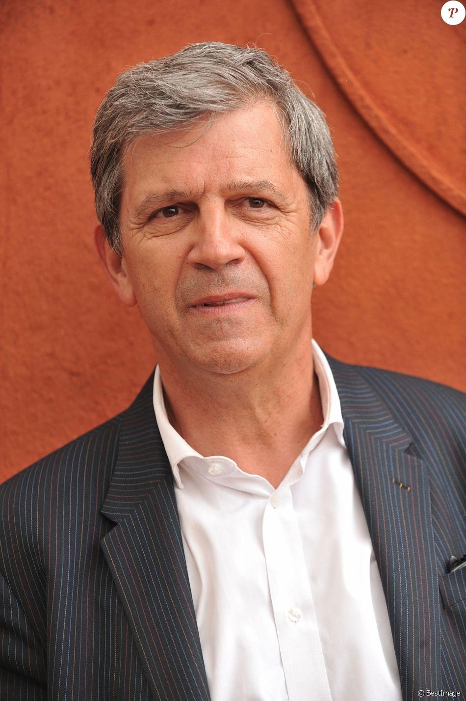 Patrick Chêne posant au village des Internationaux de France de tennis de Roland Garros à Paris, le 3 juin 2014.