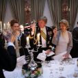 La princesse Lalla Salma du Maroc, le prince Willem Alexander des Pays-Bas, la princesse Margaretha de Liechtenstein - Dîner de gala à l'occasion du mariage du prince Guillaume de Luxembourg et la comtesse Stephanie de Lannoy à Luxembourg, le 19 octobre 2012.