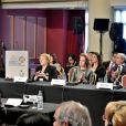 La princesse Lalla Salma du Maroc à la conférence de l'OMS sur les maladies non-transmissibles à Montevideo en Uruguay le 18 octobre 2017.