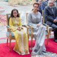 La princesse Lalla Salma du Maroc a reçu le 25 mai 2017 à Rabat, en présence de sa fille la princesse Lalla Khadija, la médaille d'or de l'Organisation mondiale de la santé (OMS) pour son engagement dans la lutte contre le cancer.