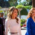 La reine Rania de Jordanie et la princesse Lalla Salma du Maroc à Casablanca le 11 mars 2015.