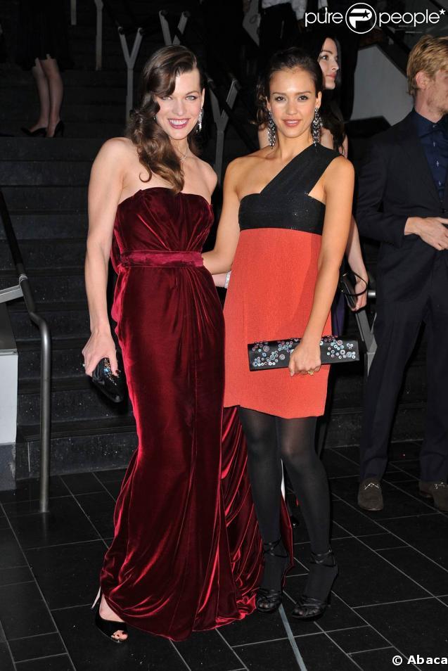 Milla Jovovich et Jessica Alba absolument sublimes, lors de la grande soirée Museum Dance 2009, à Central Park West, à New York, le 26 mars 2009 !