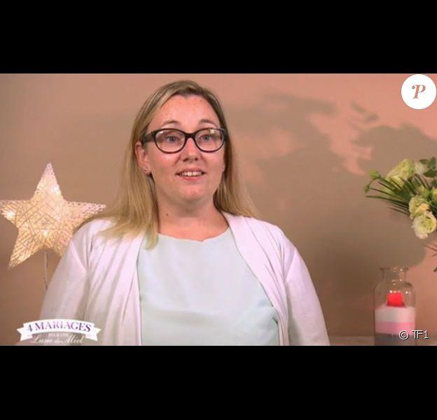 """Isabelle, candidate de """"4 mariages pour 1 lune de miel"""" (TF1) la semaine du 12 mars 2018."""